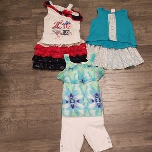 Girls 2T matching set lot